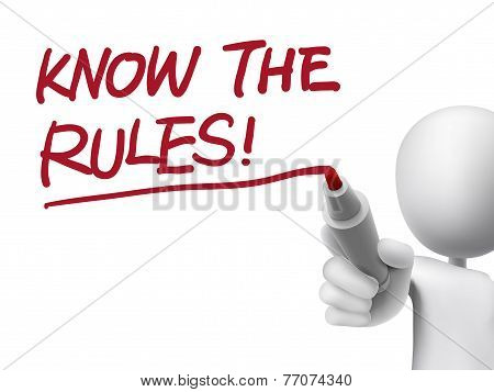 Know The Rules Words Written By 3D Man