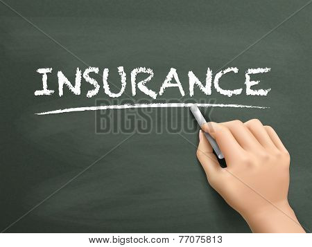 Insurance Word Written By Hand