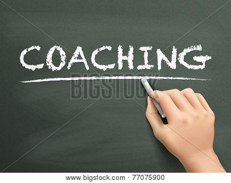 Coaching Word Written By Hand