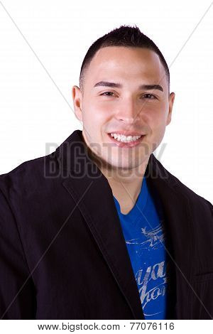 Close Up On A Hispanic Businessman
