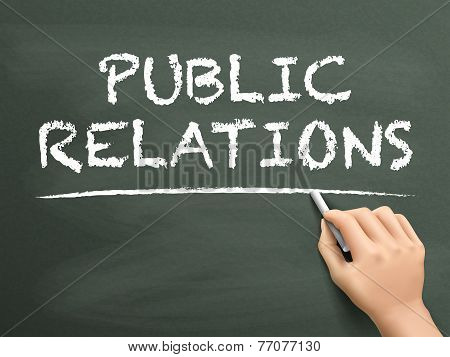 Public Relations Words Written By Hand