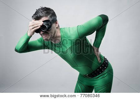 Superhero With Back Pain