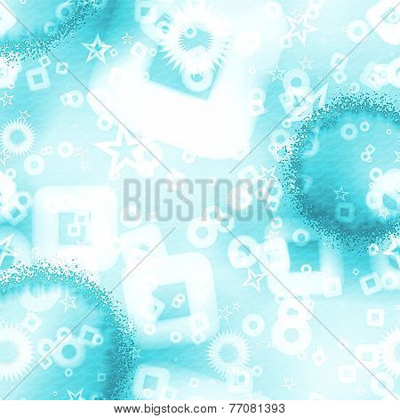Textured Background With Scattered Shapes - Blue Spectrum