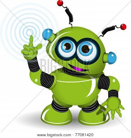 Cheerful Green Robot