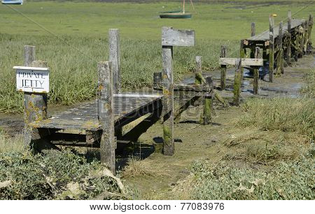 Old Jetty At Bosham. Sussex. England