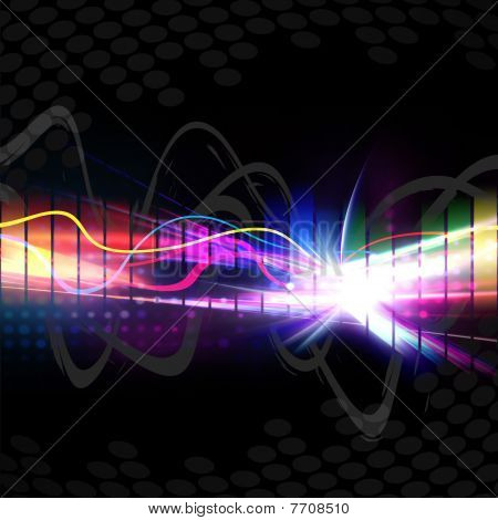 Rainbow Musical Wave Form