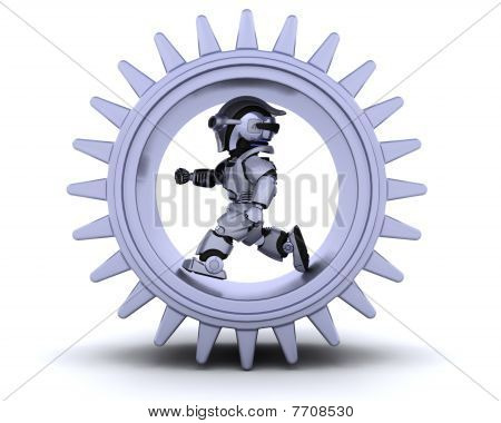 Robot With Gear Mechanism