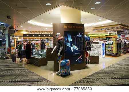 Customers Shop For Books In Singapore Airport