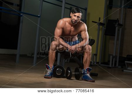 Healthy Athlete Resting After Exercise