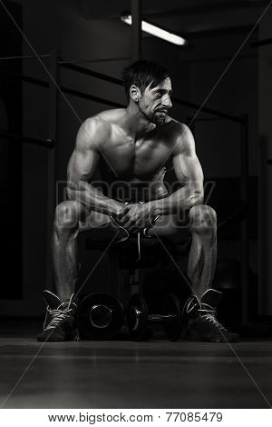 Healthy Man Resting After Exercise