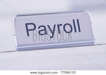 Payroll Tag On Table