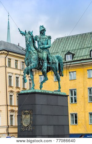 Statue Of Charles Xiv John King Of Sweden