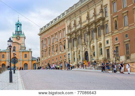 Royal Palace In Stockholm,  Sweden.