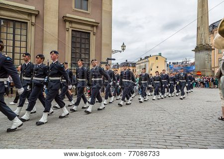 Royal Swedish Army Band  In Stockholm.