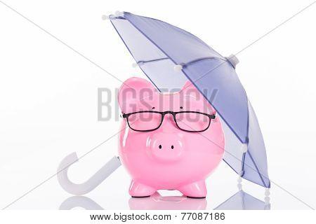 Piggybank Under Umbrella