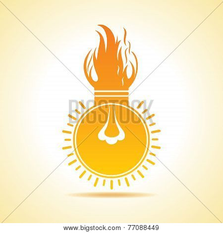 Fire bulb concept stock vector