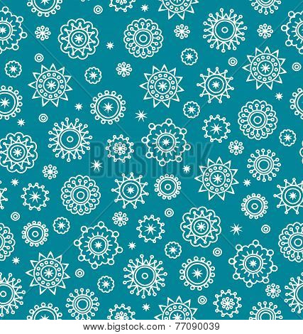 Winter Seamless Pattern With Snowflakes