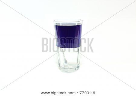 Meio cheio de vidro