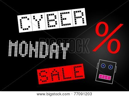 Cyber Monday sale banner illustration
