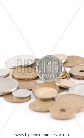 Pesetas (spanish Pre-euro Currency) (vertical)