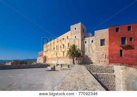 Ibiza castle buildings