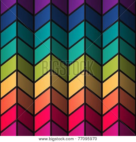 Rainbow colorful stained-glass rectangles abstract background