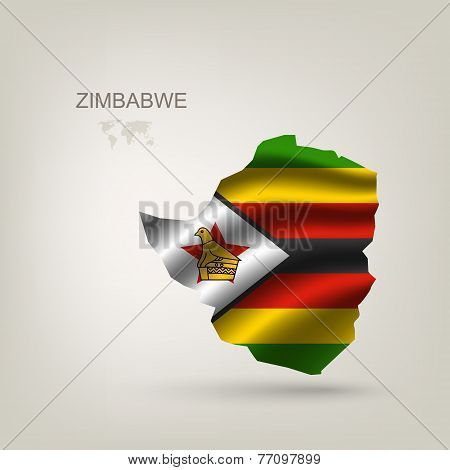 Flag Of Zimbabwe As A Country