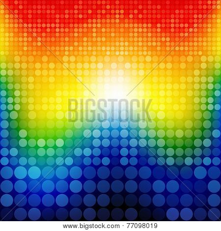 Abstract rainbow circles seamless pattern background