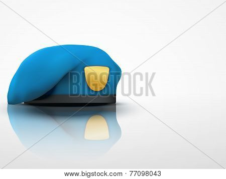 Light Background Military blue Beret NAVY Army