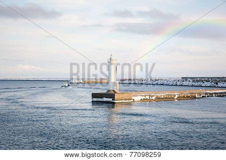 Lighthouse In Abashiri, Hokkaido, Japan