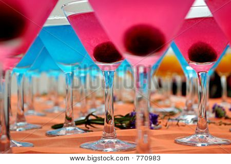 Blue & Pink Cocktails