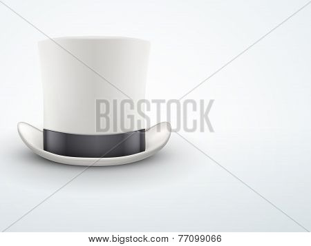 Light Background White gentleman hat cylinder