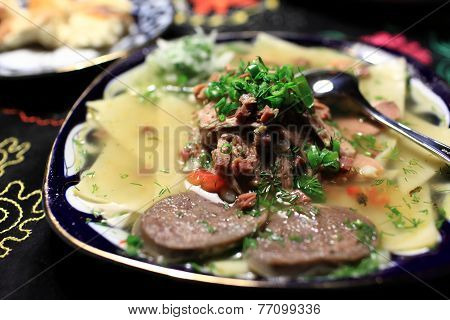 Boiled Meat With Noodles
