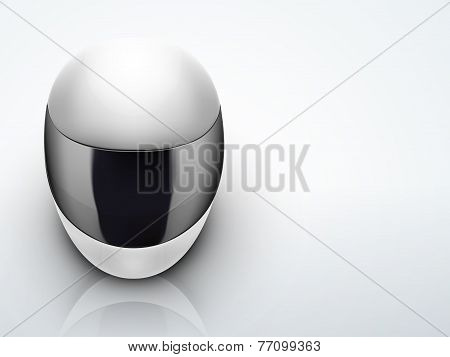 Light Background High quality white motorcycle helmet