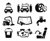 pic of pressure-wash  - Car wash icons set - JPG