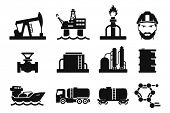 image of drum-set  - Gas and Oil icons set  - JPG