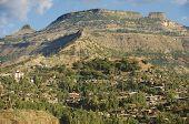 stock photo of ethiopia  - Town of Lalibela Ethiopia - JPG