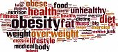 picture of flabby  - Obesity Word Cloud Concept - JPG