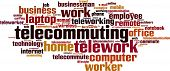 stock photo of telecommuting  - Telework In Germany word cloud concept - JPG