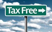 pic of debt free  - Tax Free creative green sign - JPG