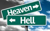 foto of hells angels  - Heaven x Hell creative sign with clouds as the background - JPG