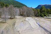 stock photo of mountain-ash  - Riverbed in the mountains of the Argentine Patagonia - JPG