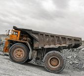 image of asbestos  - Large truck Belaz in close - JPG