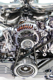 stock photo of lube  - Car engine - JPG