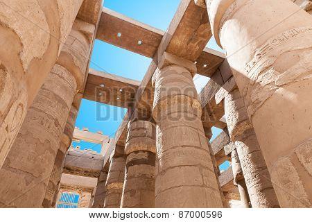 Columns In Karnak Temple
