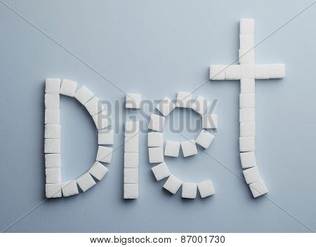 Diet Text Made Of Sugar
