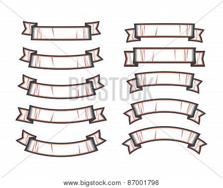 Set Of Ribbon Shapes