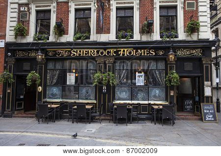 The Sherlock Holmes Public House In London
