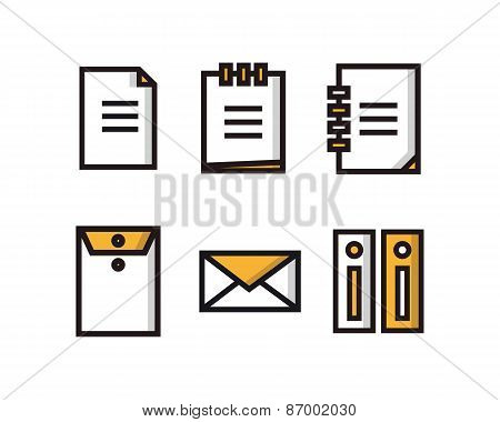 Set of document icons