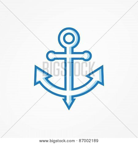 Anchor symbol or logo. Vector illustration